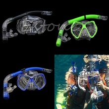 Swimming Scuba Protective Goggles Mask Dive Diving Glasses Semi Dry Snorkel Set