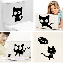 All kinds of black cat wall sticker home decoration diy Cartoon bedroom living room animals print decals mural art poster(China)