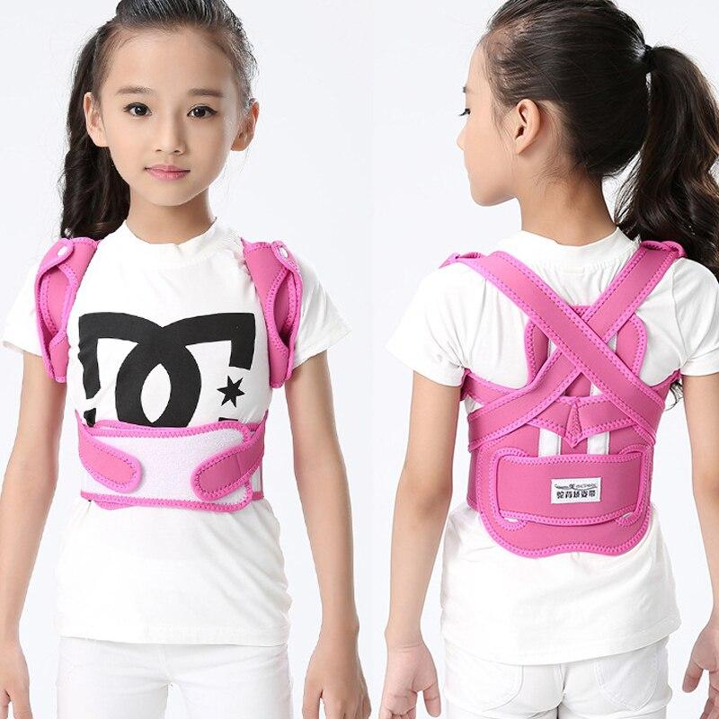 JORZILANO Children Back Correct Belt Adjustable Shoulder Support Belt Flexible Back Slouch Posture Supports Correct Belt Babaka<br>