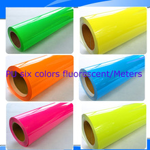 Fast Shipping PU Fluomescent Heat Transfer Film For Six Colors/ Meter= (50cmx100cm)X6 Heat Transfer PU Vinyl