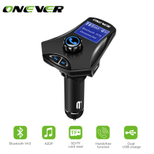 Onever FM Transmitter Bluetooth FM Modulator Hands Free Car Kit Audio MP3 Player Aux-in 3.5mm with USB Charger Support TF USB