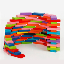 Chanycore Baby Learning Educational Wooden Toys Blocks Jenga Domino 100pcs 120pcs Geometric Shape Montessori Kids Gifts 4163