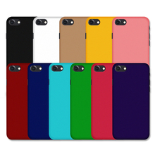 Luxury Matte Rubberized Cases For iPhone 4 4s 5 5s 5SE 5C 6 6s 6 plus 6s plus 7 7 plus Multi Colors Rubber Frosted Cover Hard Pl(China)