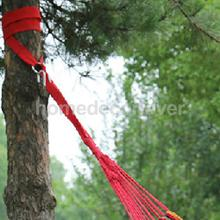 MagiDeal Nylon Hammock Tree Hanging Straps Belt Kit with 2 Hook S Rings Red