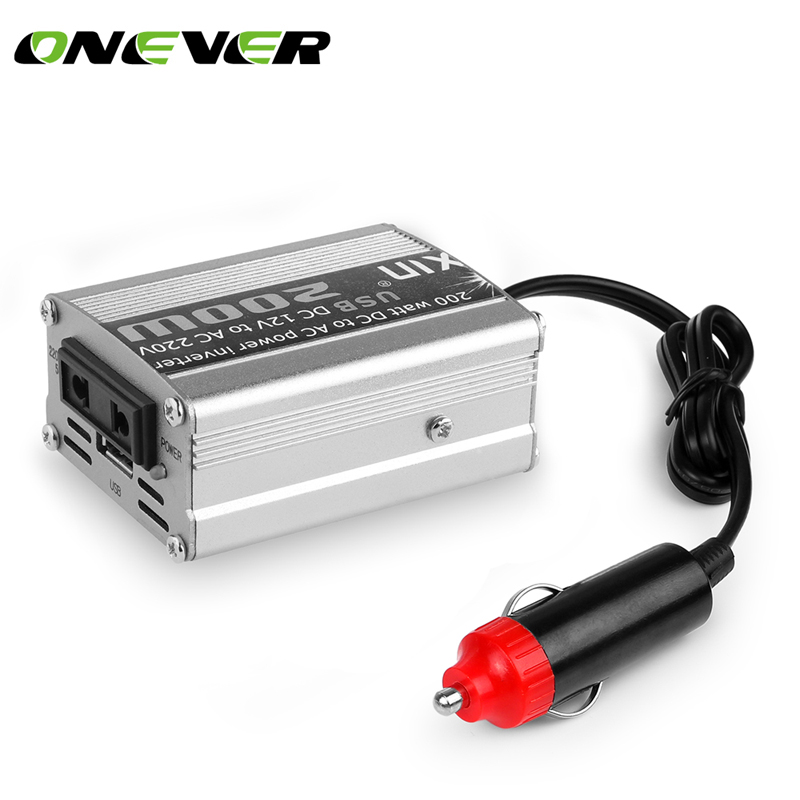 1pcs 200W Car Power Inverter Converter DC 12V to AC 220V Modified Sine Wave Power with USB 5V Output car styling&car charger(China (Mainland))