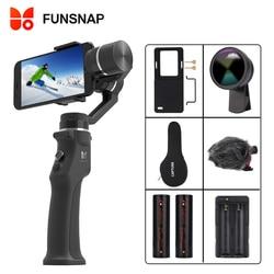 Funsnap захвата 3-осевой переносной карданный стабилизатор для смартфона мобильного телефона iphone GoPro 7 6 5 sjcam eken Yi для экшн-камеры