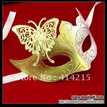 48pcs Free Shipping Golden White Butterfly Mask Masquerade Ball C003-WG