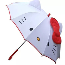 NEW HOT lovely Cartoon Hello Kitty children anime umbrella for kids girl cute umbrella baby white umbrella