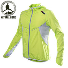 NaturalHome Cycling Men's Women Riding Reflective Jersey Downhill Cycle Clothing Long Sleeve Wind Jacket Jerseys