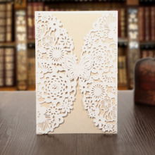 KAZIPA 25pcs/Set Laser Cut Invitations Cards, Invitation Kit for Wedding Baby Shower Birthday Party with Printable Paper