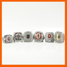 2002 2008 2009 2014 2014 2015 OHIO STATE BUCKEYES FOOTBALL BIG TEN CHAMPIONSHIP RING US SIZE 11, 6 RINGS AS A SET(China)