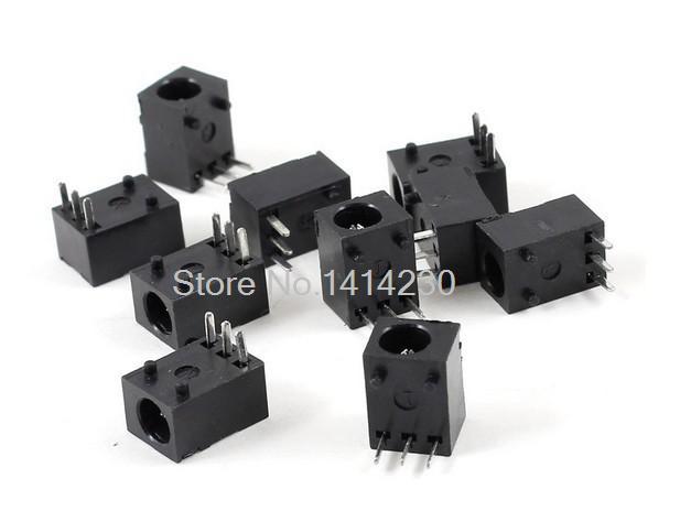 20Pcs DC Power Jack Female DIP 3 Pin Supply Socket Connector DC003 Type 1.3mm