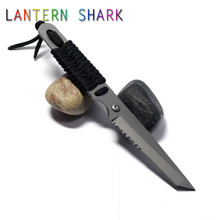 Lantern Shark Diving Knife Kill The Fish To Scales Multi Function Diving Tactical Survival Knife Army Fixed Blade Diving Knives(China)