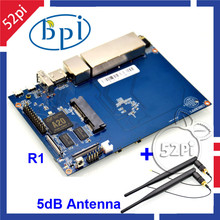Free shipping Banana PI R1 + 2 Omni Directional 5dB BPI-R1 Antenna,Smart Wireless Router Opensource development board