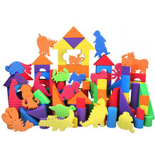 0-4 Years Safe Baby Toys High Quality Large DIY Soft EVA Foam Building Blocks Learning Education Toys For Kids(China)