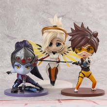 New hot OW Over game watch Overwatches Widowmaker Mercy Tracer cute figure toy Collectibles Model gift doll AOSST