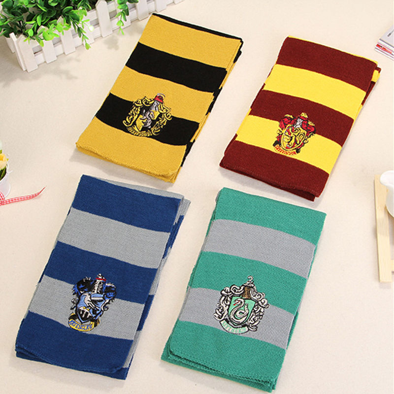 Harri Potter Scarf Cosplay Costume Gryffindor Slytherin Ravenclaw hufflepuff Cotton Scarf For Women/Men/girl/boy decoration(China (Mainland))