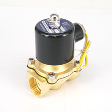 "AC380V 2 Port 2W-200-20 3/4""BSP Brass Electric Solenoid Valve Water Air Fuels N/C Wire Lead Type(China)"