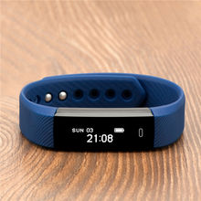 ID115 Smart Band Fitness Bracelet Passometer Sport Steps OLED Wristband Activity Tracker Alarm Clock Vibrating for iOS Android