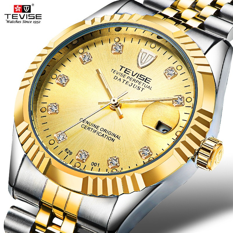 TEVISE Men Mechanical Watches Calendar Automatic Watch Men Diamond Business Causal Male Watches Luxury Waterproof Wristwatches<br>