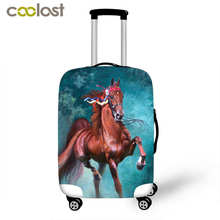 3D Horse Print Thick Luggage Lrotective Cover For 18-28 Inch Case Elastic Luggage Cover Travel Bag Cover