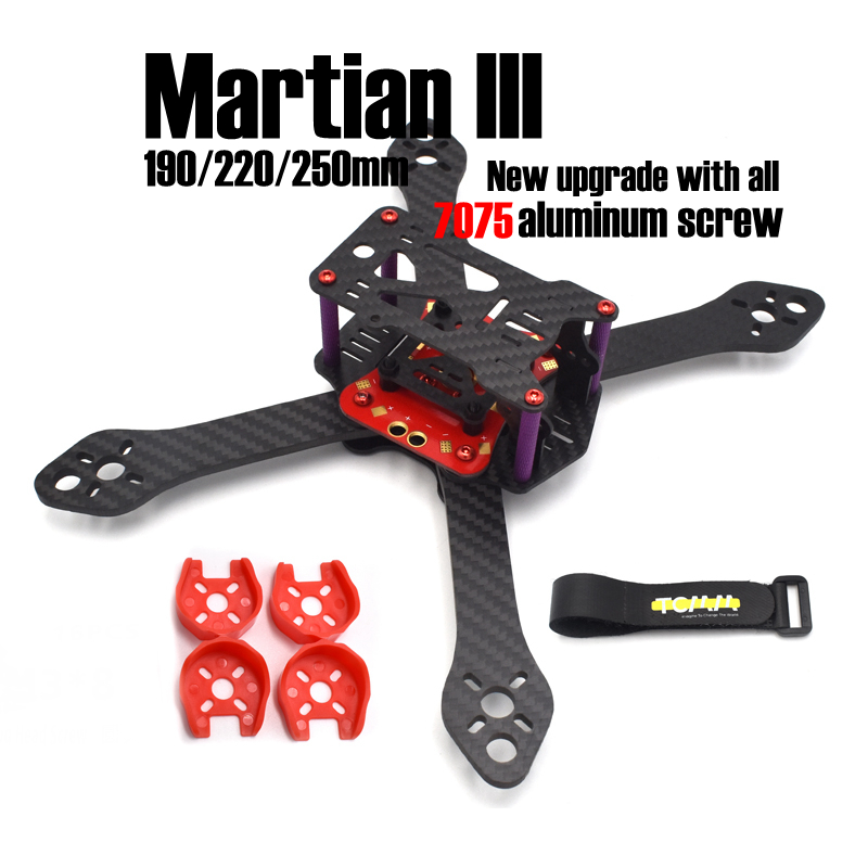 Martian III 3 190mm 220mm 250mm Carbon Fiber with PDB 4mm arms for FPV Cross Racing Drone Quadcopter Frame kit +<br><br>Aliexpress