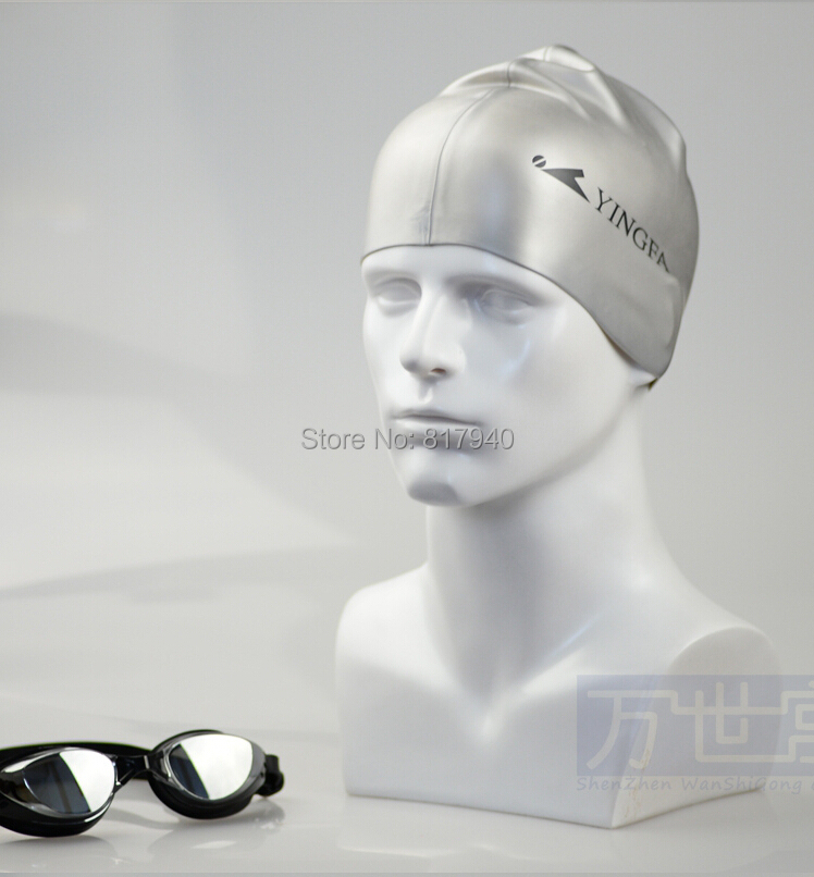 new arrival plus size Fiberglass white male mannequin head for sunglass$ hat display manikin heads(China)