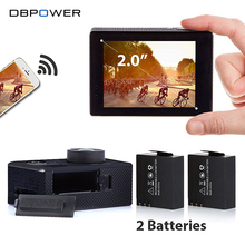 DBPOWER EX5000 Wifi Action Sport Camera 2.0 inch 1080p 1920*1080/30fps Waterproof 30m with 2 Extra Batteries Go SJ5000 pro Cam