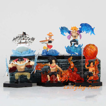 Action Figure Toy One Piece Q Ver. Portgas D Ace Edward Newgate Phoenix figure 6pcs/set Garage Kit Doll Brinquedos Anime(China)