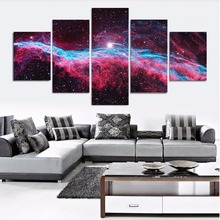 Fresh Look Color 5 Piece Wall Art Painting Starry Night Sky Over The Mountains Prints On Canvas The Picture Landscape