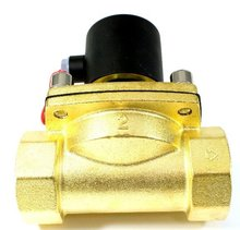Free Shipping High Quality 2PCS In Lot 2'' N.C Brass Oil Valve 2 Position Water Solenoid Control Valve 2W500-50 AC110V
