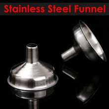 Stainless Steel Mini Funnel Metal For Hip Flask Wine Mouth Accessories Outdoor Portable Containers Filter Home Bar Kitchen Tool