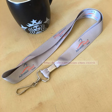 200pcs/lot  customized logo screen Printed id card holder polyester neck Lanyard with DHL express free shipping