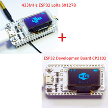 Buy 2pcs/lot SX1278+CP2102 0.96 Inch Blue OLED Display Bluetooth WIFI Lora Kit 3.3V-7V Internet Development Board Arduino for $27.84 in AliExpress store