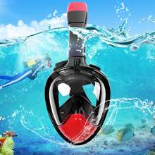 Underwater Diving Mask Snorkel Set Diving Swimming Gopro Camera Anti Fog Dry Snorkeling Full Face Mask Set Adult and Children