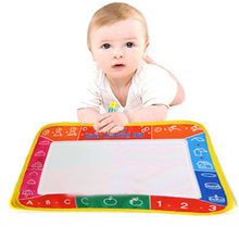 Write Draw Paint Water Canvas Magic Doodle Mat Brushes 29X19cm Baby toys