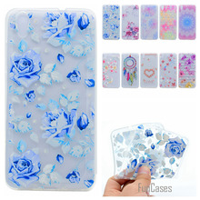 Cute Phone Case For Huawei Y6 Coque Colorful Flower Style Soft TPU Capa For Huawei Y3 II Y5 ii Y6 ii  Fundas Rose Back Cover