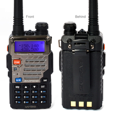 Shipping from RU 2 Pieces/lot BaoFeng UV-5RB 5W Dual band dual 136-174MHz/400-520MHz amateur radio transceiver Walkie talkie