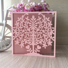 20pcs New Arrived Life Tree Design postcards Wedding Invitation Cards Celebrating Congratulation card Birthday Invitation card(China)