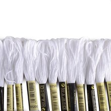 СЗС Горячие 24 мотков линии для Вышивка вышивки крестом Вязание Браслеты (белый и черный)(China)
