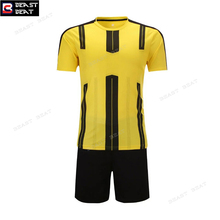 New 2017-2018 Soccer Jerseys Set Yellow Black Customized Any Name Numbers Beast Beat Breathable Futebol Football Jerseys S-3XL(China)