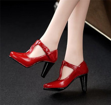 3 Colors 1/6 Female High-Heel Shoes Model without feet Red/Black/Grey for HT PH Body Figures(China)