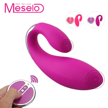 Buy Meselo Sex Toys Woman Remote Control Vibrator U Shape Multi-speeds Dual Head Double Head G-spot Vibrator Vagina Clitoris