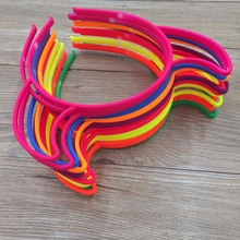 12pcs Bright Colors Plastic ABS Cow Headband Colorful Headbands Party Hairbands for Girls Nice Headbands Wholesale(China)