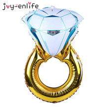 JOY-ENLIFE 1pcs Diamond Ring Foil Balloon Wedding Engagement Birthday Party Bridal Shower Bachelorette Party Decoration Supplies(China)