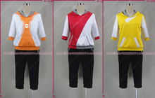pocket Monster Game Pokemon Go Male and female Trainer Avatar Anime Cosplay Costume red yellow orange costume(China)