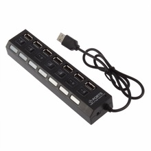 7 Port USB 2.0 Super High Speed HUB Sharing Switch For Laptop PC Portable Hub Laptop Accessories Drop Shipping(China)