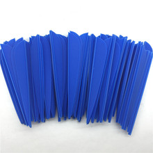 500PCS 3 inch Blue Water Drop TPU Plastic Vane Feather Fletch Arrows Archery For Yourself Hunting And Shooting Outdoors