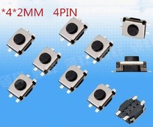 SMD 3 * 4 * 2MM Micro button 3X4X2 tact switch 4 pin little turtle single shrapnel temperature ic 3x4x2MM(China)