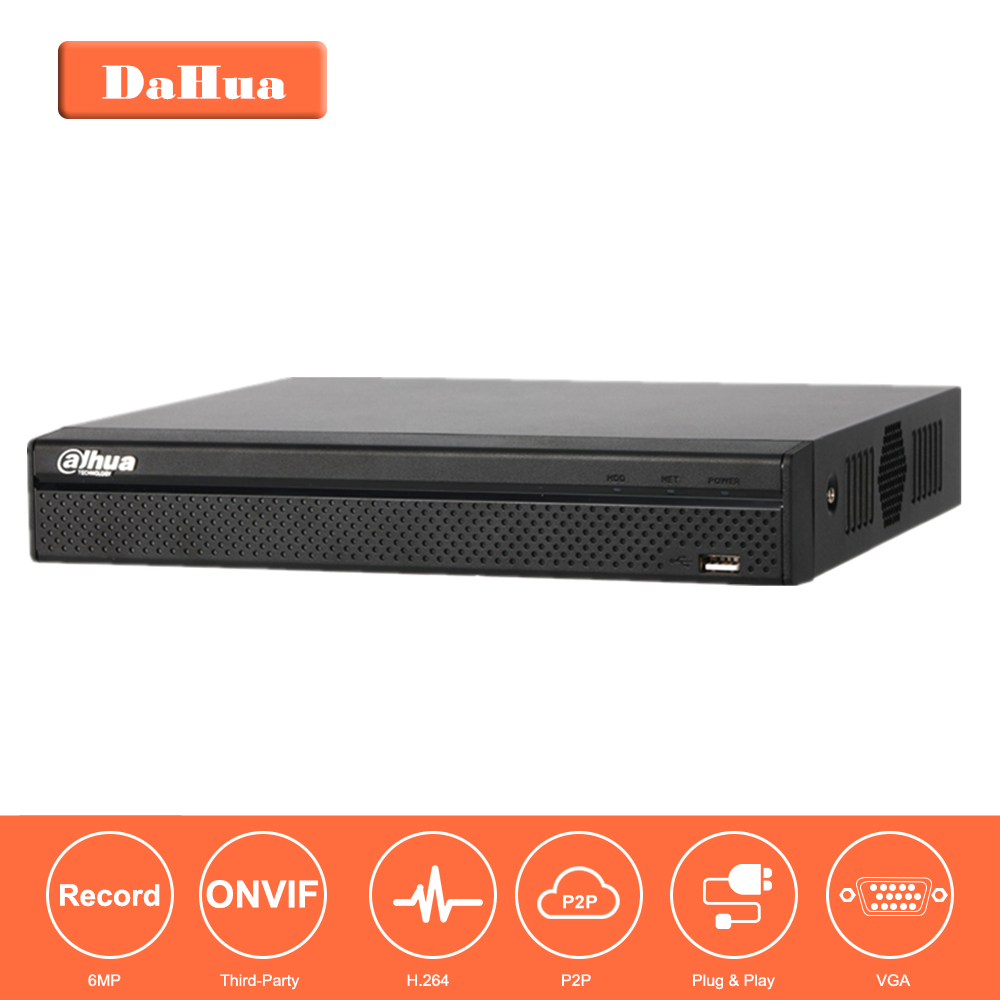 Dahua 8 channel PoE NVR 8CH Network Video Recorder Full HD 1080P Recorder 1SATA 2USB Interface NVR2108HS-8P-S2